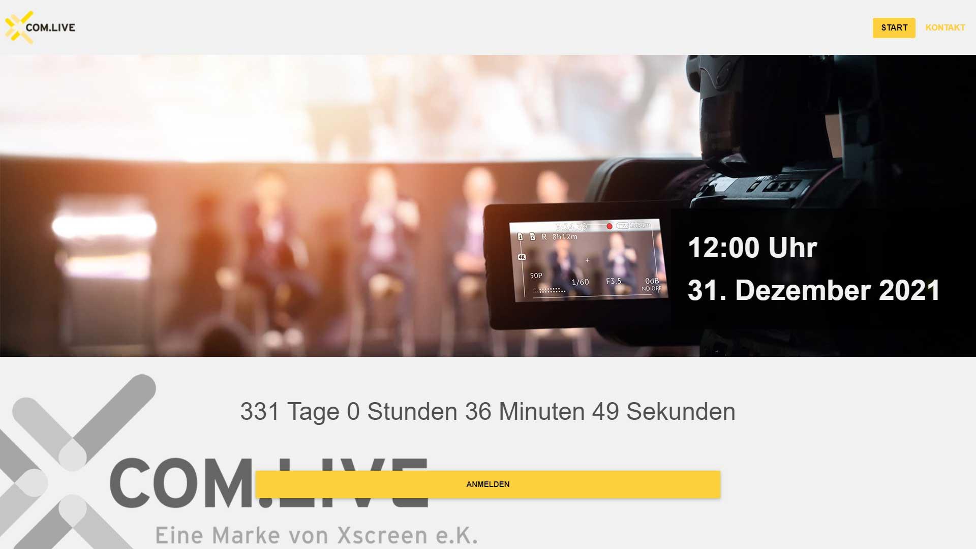 XCOM.live Online Location virtuelle und hybride Events