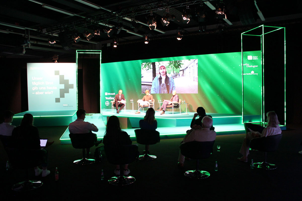 """Hybrides Event Livestreaming """"The Future of Food and Farming"""""""