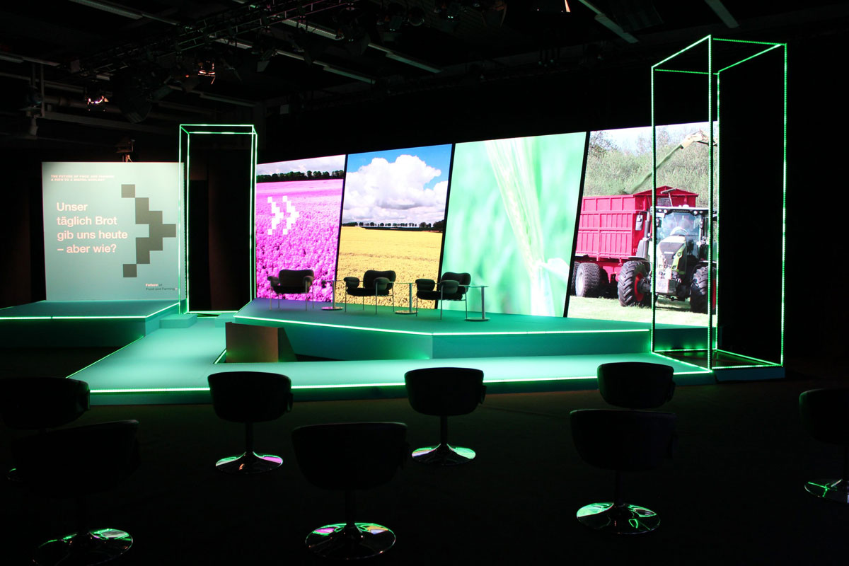 """Set-up hybrides Event Livestreaming """"The Future of Food and Farming"""""""